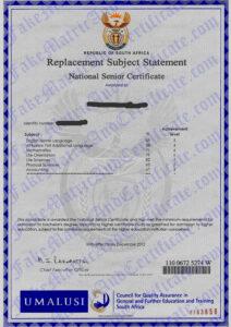 matric certificate (2012-2015)