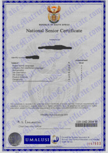 matric certificate (2016-2021)