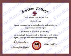 Degree - Boston College