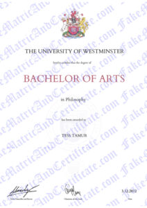 Degree - The University of Westminster