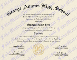 Diploma - George Adams High School