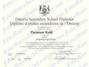 Diploma - Ontario Secondary School