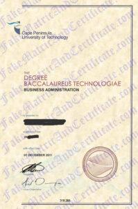 Diploma - Cape Peninsula