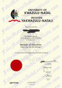 Degree - Kwa-Zulu Natal University