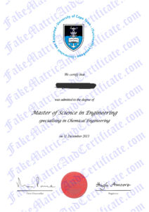 Degree - Cape Town University