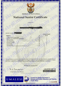 matric certificate (2010-2011)