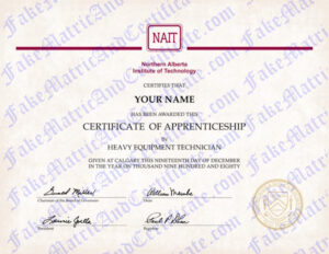 Certificate - Northern Alberta Institute of Technology (NAIT)
