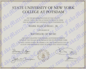 Degree - State University of New York College at Potsdam