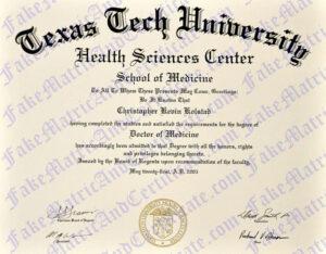 Degree - Texas Tech University