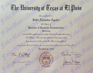 Diploma - University of Texas at El Paso