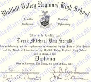 Diploma - Wallkill Valley Regional High School